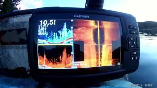 Garmin Striker 7 SV on the water