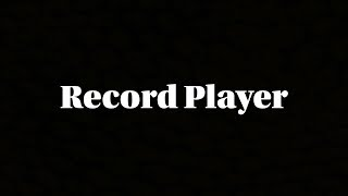 Record Player (A Short Animated Film)