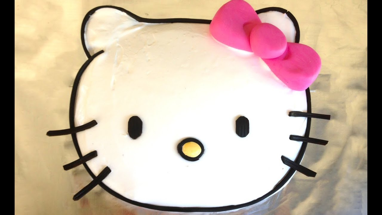 Easy Hello Kitty Cake How To Cook That Hello Kitty Cake
