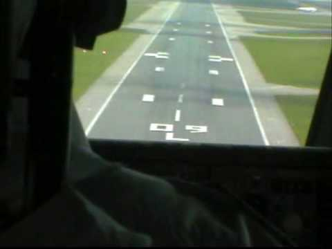 Boeing 747 Landing On Runway 09L At London Heathrow
