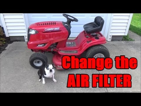 Troy Bilt Pony How To Change The Air Filter Youtube