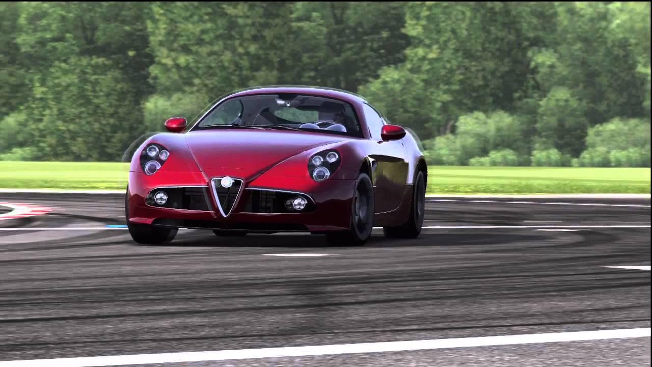 alfa romeo 8c competizione top gear track - youtube