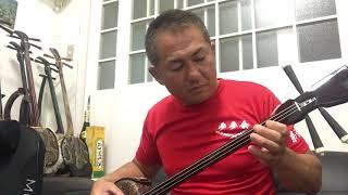 師匠の一人である照屋林賢さんの名曲を弾きました。今日もポイント稽古...