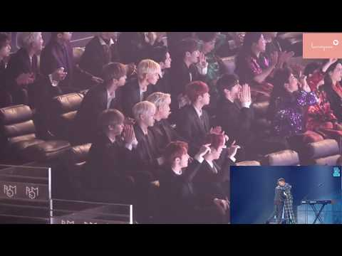 Wanna One reaction to BTS & Charlie Puth - We Don't Talk Anymore (2018 MGA)