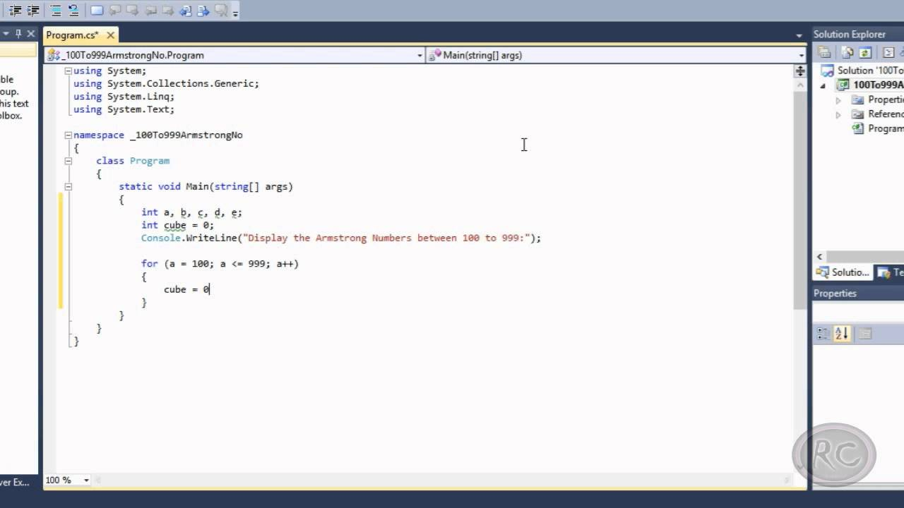 javascript program for armstrong number between 1 to 1000