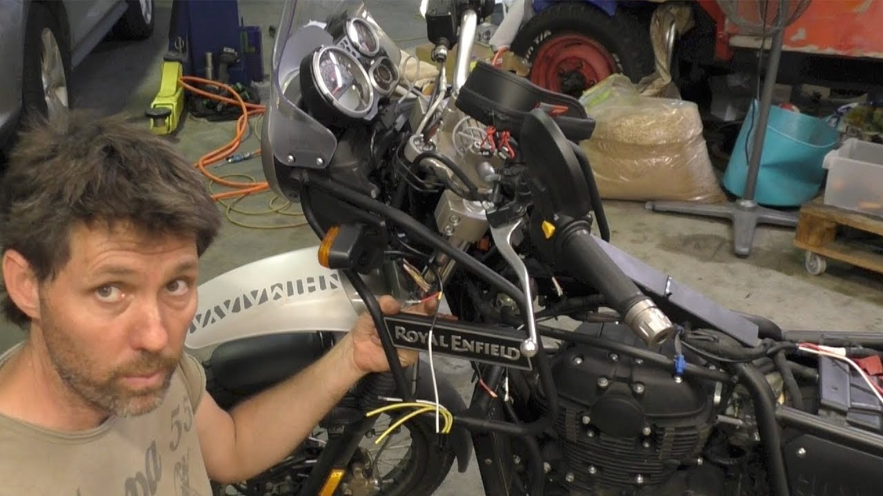 Installing Led Lights On The Royal Enfield Himalayan