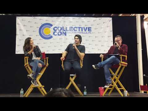 Brandon J Routh, Courtney Ford, and Patty Hawkins q and a panel