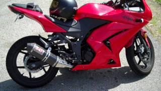 Ninja 250R Yoshimura Full CF Exhaust, K&N