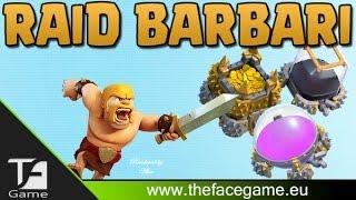 FARM DISTRUTTA CON SOLO BARBARI --Clash of Clans ITA--