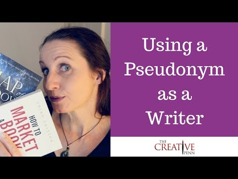 Using Different Author Names Or A Pseudonym As A Writer