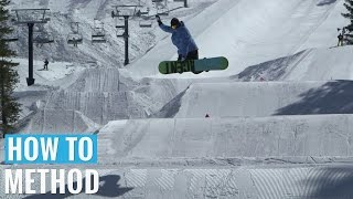 How to Method Grab on a Snowboard - (Regular) Methods Trick Tip