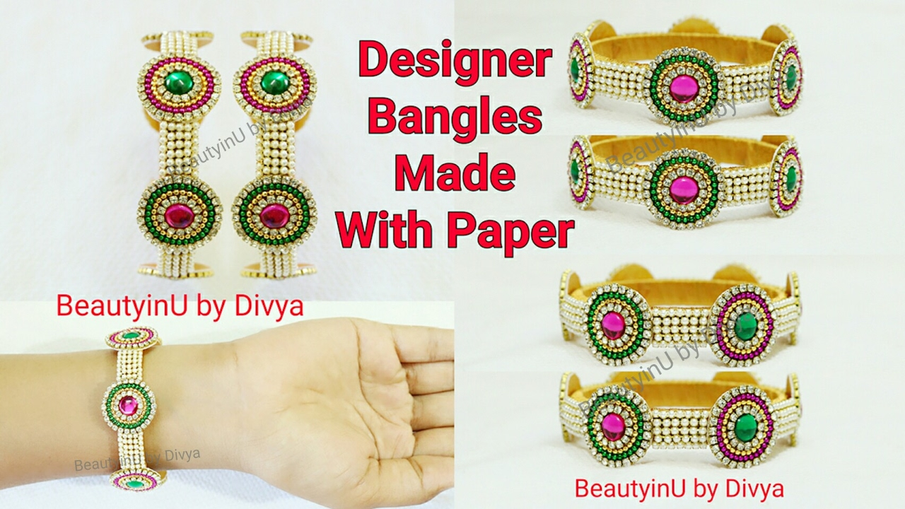 How to make Designer Bridal Silk Thread Bangles with Paper at Home