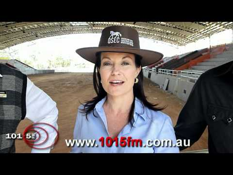 Greg Chippendale, Laurel Edwards and Troy Cassar-Daley talking about the Equestrian Centre launch
