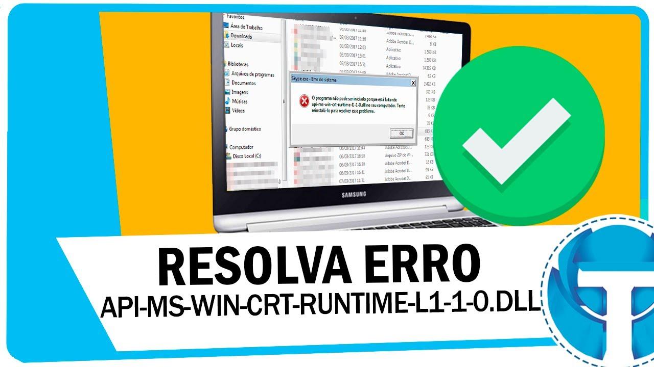 install api ms win crt runtime l1 1 0 dll