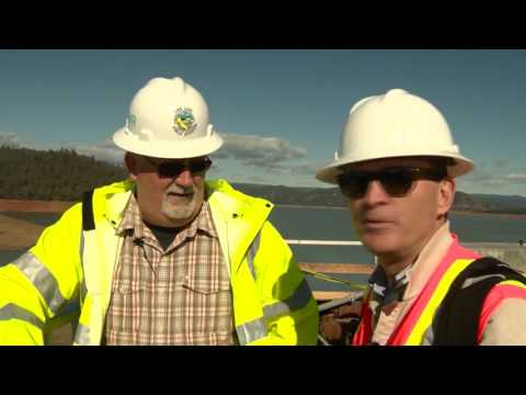 Tour of Oroville Dam gets closer look at damage, work