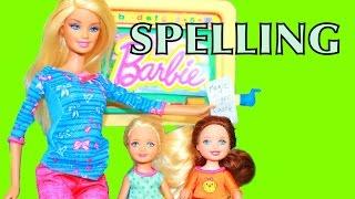 BARBIE SCHOOL Disney Frozen KIDS Amber Chelsea Spell BARBIE Summer School AllToyCollector