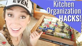 Kitchen Organization Hacks! | Jordan from Millennial Moms