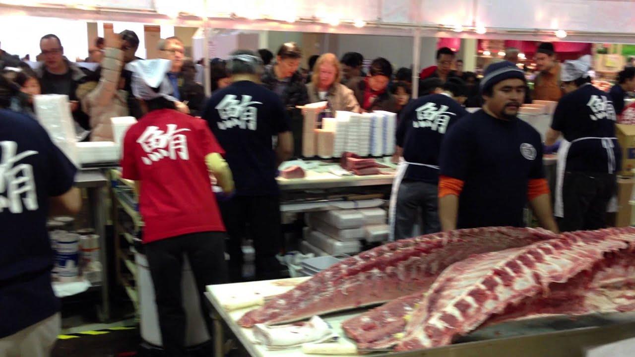 Mitsuwa Bluefin Tuna Cutting Performance (2013 02 23)