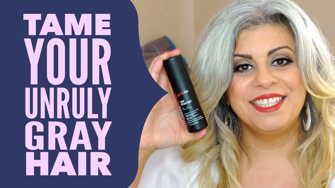 Natural Gray Hair With Favorite Hair Styling Products Maryam