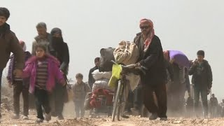 Millions forced from their homes over 7 years of fighting in Syria