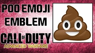 Poo Emoji Emblem - Advanced Warfare | Best AW Emblem | ImSmiL1n
