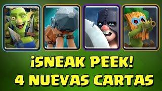 ¡¡NUEVAS CARTAS: LANZADARDOS, VERDUGO, ARIETE Y PANDILLA DE DUENDES!! | Sneak Peek #2 | Clash Royale
