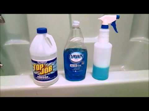 Image result for cleaning tub with broom vinegar and dawn