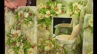 Декупаж кухонной доски, рамочки для зеркала и салфетки. Мастер класс. Наташа Фохтина(, 2013-12-26T17:21:02.000Z)