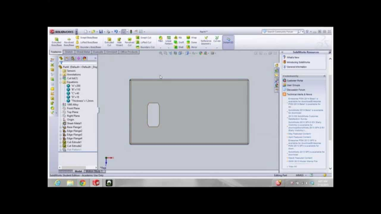 Solidworks Corporation Cswp Advanced Sheet Metal