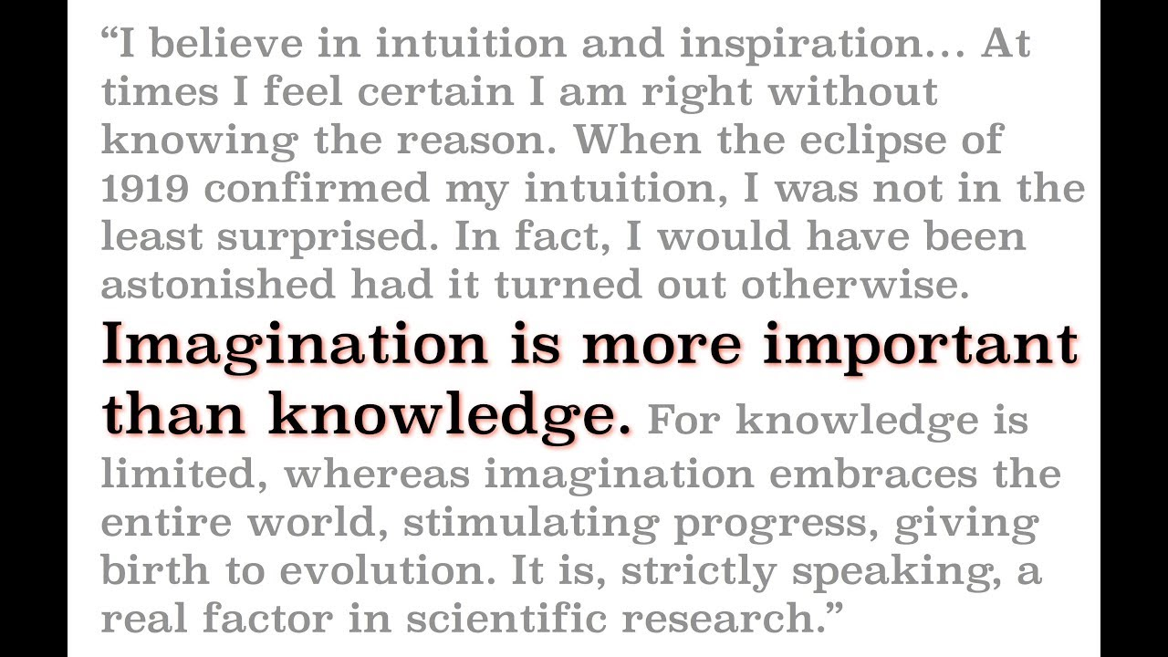 The Great Misunderstood Quote From Einstein Youtube