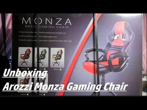 AROZZI MONZA GAMING CHAIR - Unboxing+Assembly