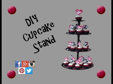easy diy cupcake stand diy dollar tree cupcake stand. Black Bedroom Furniture Sets. Home Design Ideas