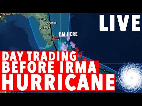 DAY TRADING LIVE! HOT STOCKS AND HURRICANES!