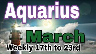 Aquarius March2019 NEED TO BE ADAPTABLE TO CHANGES A MAJOR NEW BEGINNING ANXIETY OVER OPTIONS Tarot