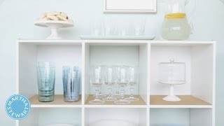 Learn & Do Creating An Entertaining Sideboard  - Home How-to Series - Martha Stewart