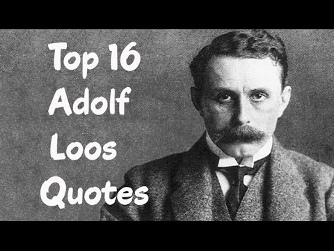 adolf loos essay I took adolf loos's famous 1908 essay ornament and crime with me on a recent family beach vacation—a perfect choice, it turns out, as family beach vacation is one of those irony-rich paradoxes requiring stockpiles of distracting reading material.