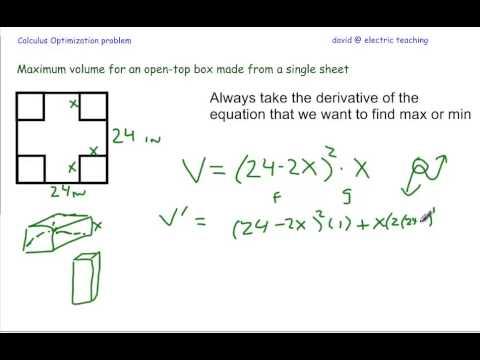 Open topped box problem algebra