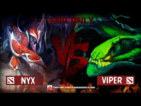 видео: viper vs nyx [Битва героев mid only в dota 2]