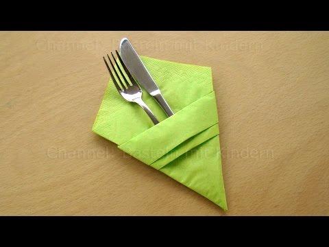 Bestecktasche Falten servietten falten einfach bestecktasche falten diy tischdeko