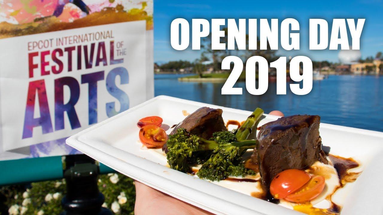 Epcot International Festival Of The Arts Opening Day 2019 Walt Disney World Youtube