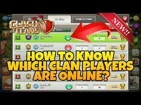 Clash of clan how to check which members are online