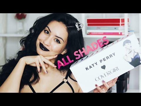 KATY PERRY X COVERGIRL | ALL Katy Kat Matte Lipstick Swatches