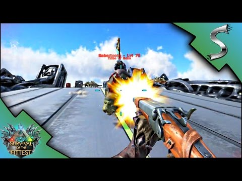 MAKING GUNS AND BEING HUNTED!  Ark: Survival of the Fittest SOTF Gameplay