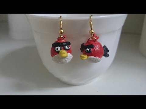 how to make clay angry bird earrings terracotta clay