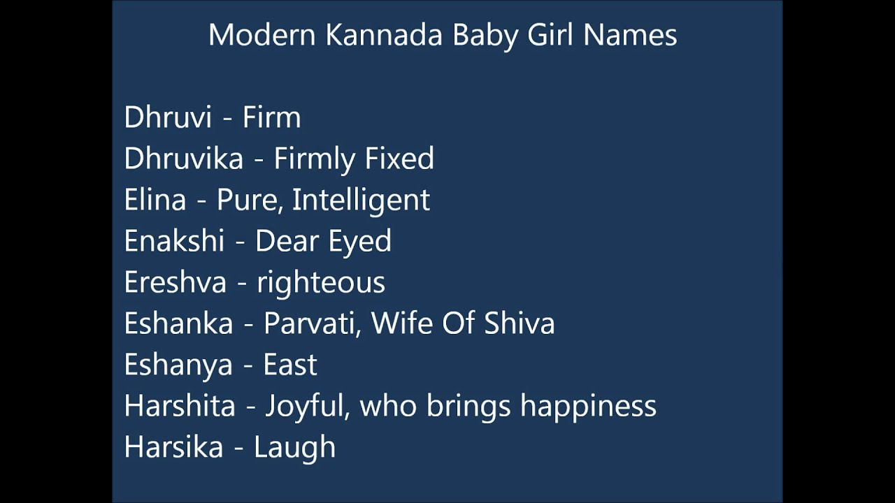 Modern baby names with y