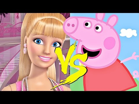 PEPPA PIG vs BARBIE - BATALHA DE RAP (PARÓDIA)