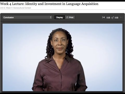 Dr. Uju Anya Identity & Investment in Language Learning Lecture
