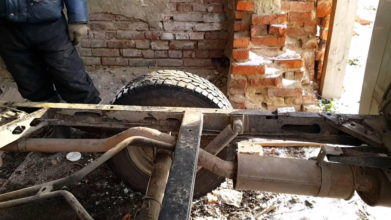 Переделанный УАЗ-452 -бульдозер,погрузчик - YouTube