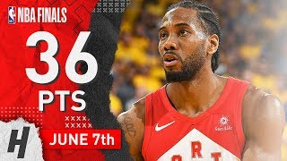 Kawhi Leonard Full Game 4 Highlights Raptors vs Warriors 2019 NBA Finals - 36 Pts, 12 Reb, BEAST!