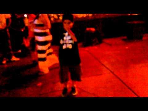 Break dancing in front of fat burger in Vegas!